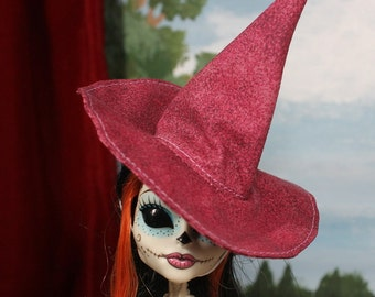 Ruby Haze Witch Hat for Slim Monster and Fashion Dolls