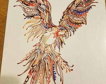 COLORFUL PARROT temporary tattoo