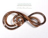 Hand Forged Copper Bracelet Focal Component,  Bracelet Link, DIY Jewelry Making JC593