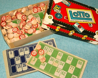 Vintage Lotto Game - Bingo