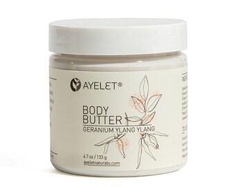 Whipped Body Butter Your Pick| Organic Body Soufflé| Whipped Body Cream| Dry Skin Cream| Shea Butter Cream| Moisturizing Body Butter| 4 oz