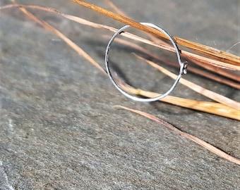 28g nose hoop-- sterling silver or 14k gold hoop-- primitive series-- handmade by thebeadedlily