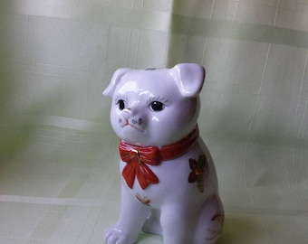 Imari Pug Vintage Hand Painted Figurine Made in Japan