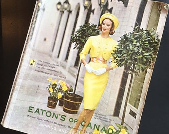 Vintage Eatons Catalog Spring and Summer 1963 Eatons of Canada 60s Retro Fashions Housewares Furniture Midcentury Modern