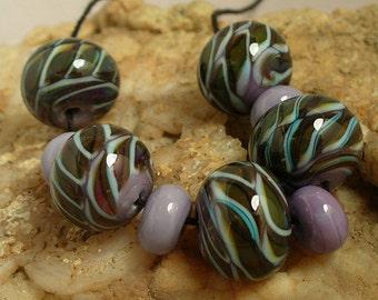 SRA Handmade Lampwork Glass Beads by Catalinaglass  Snakeskin