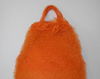 SALE Vintage 70's orange purse handbag   bag  unique   accessories  clothing clothes