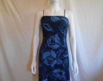 Closing Shop Sale 40% Off 90s Floral Ribbed Dress