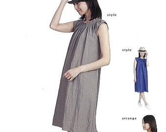 M162 Adult Shirring Dress M Pattern - Japanese M Pattern