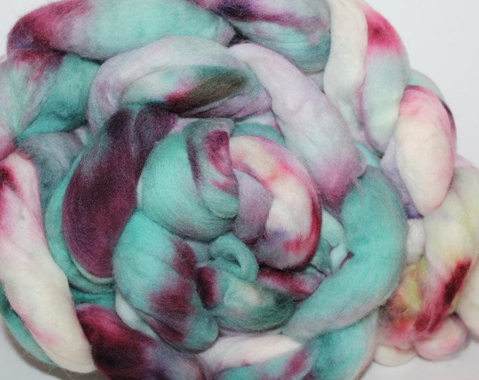 Kette Dyed Polwarth wool top. Roving. Spin. Felt. Super Soft. 1lb. FREE SHIP #P16