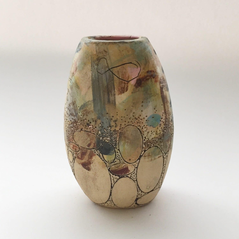 Gizella Landscape Vase (ivory)