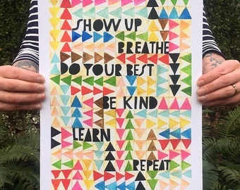 Show Up Art Print - Lisa Congdon