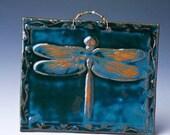 Holly Green Delightful Dragonfly Ceramic Tile