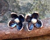 20% OFF Today Sterling silver flower stud earrings