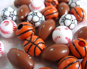 35  Sports Ball Large Hole Beads