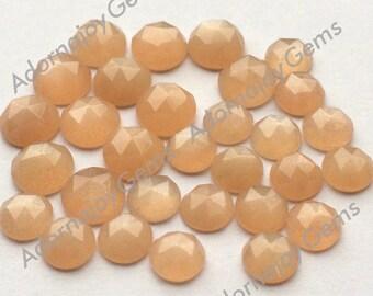 Gemstone Cabochon Moonstone Peach 6mm Rose Cut FOR ONE