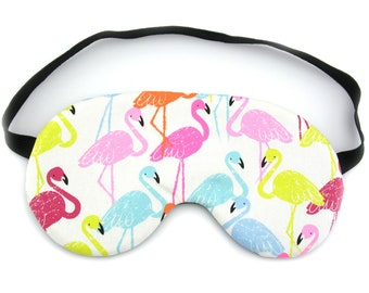 Bright Flamingos Sleep Eye Mask, Sleeping Mask, Travel Mask, Sleep Mask, Travel Gift, Gift for her