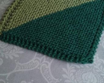 Double Green Cotton Dishcloth