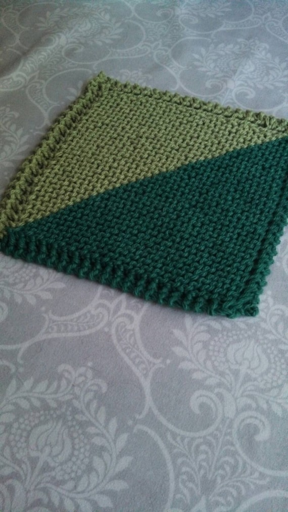 Double Green Cotton Dishcloth