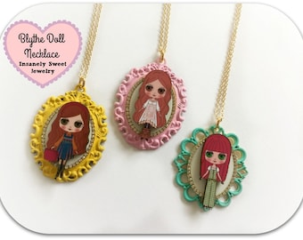 SALE- Blythe Doll Cameo Necklaces- Your choice of color
