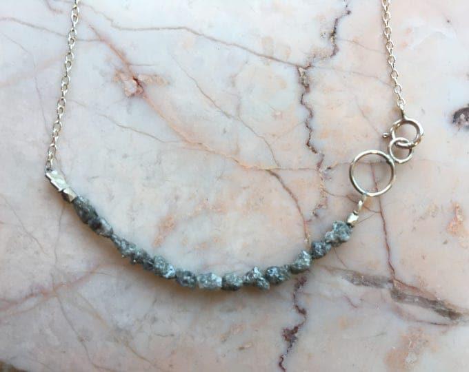 Raw Diamond Necklace