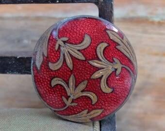 Antique Cloisonne Enamel Button