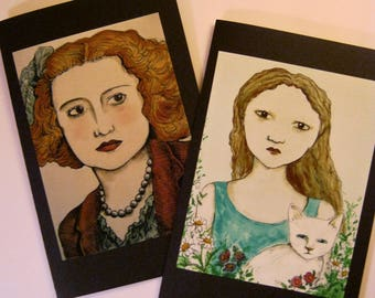 LARGE greeting cards- sandy mastroni, handmade,  two card set