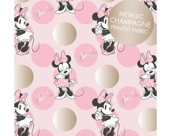 Camelot, Minnie Mouse, Pink Jumbo Dot, Metallic print, LAST 30 Inches