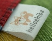 Light thin WHITE cotton labels personalized sew in labels clothing labels PRE-CUT 100 pcs