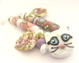 19 Handmade Lampwork Beads