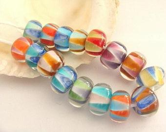 16 Handmade Lampwork Beads