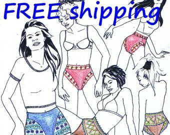 FREE Ship Pattern SH20 for 2 Panties and Boxer with Lace by Merckwaerdigh