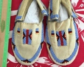 Native  American  Moccasins .. Childrens ...8 INCHES..Childs size3-4