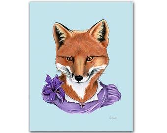 Fox Lady art print 8x10