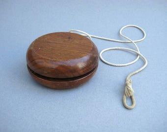 Big Wooden Yo-Yo 1970s Vintage Wood Toy YoYo 4 Inches in Diameter