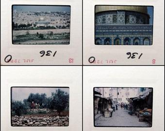 Israel - Vintage 35mm Slide Set - 1970s Travel - Photo Slides - Nazareth - Jerusalem - Herodium - Masada - Shiloh