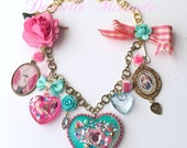RESERVED 4 Caitlin Marie Antoinette Sweet Pink Eat Cake Charm Necklace