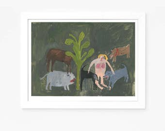 Original Faye Moorhouse Painting || Ladies of the Forest