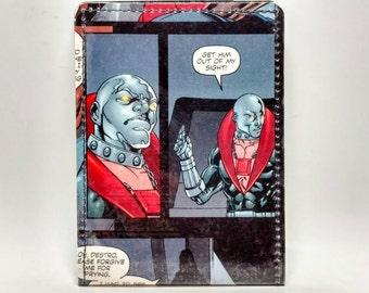 Sewn Duct Tape Comic Book Wallet - GI Joe / Cobra - Destro Design 1