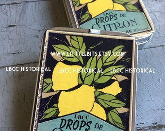 Lemon Citron Drops: Vintage Stocking Stuffers Lemon Drops
