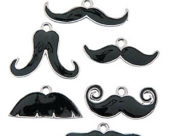 Mustache Charm Assortment