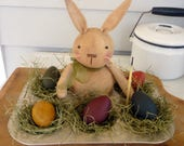 Primitive Easter Bunny Egg decoration Muffin pan