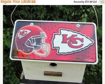 Snow Storm Sale Kansas City Chiefs Vanity Plate  Football  Birdhouse Fully Functional