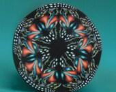 SMALL Polymer Clay Kaleidoscope Cane- 'Wishful Thinking' series (43bb)