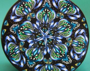 JUMBO Polymer Clay Kaleidoscope Cane -'Mindfulness' (11D)