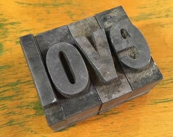 love. Antique Letterpress Blocks