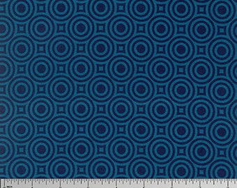 YARD - Heather Bailey Fabric, True Colors, Zen Bot in Cobalt Blue, cotton quilting fabric -  SALE