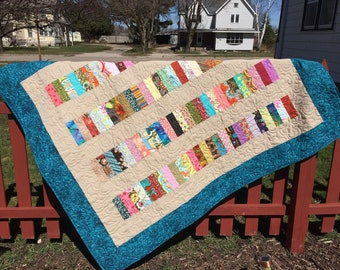 Stacked Coins Lap Quilt Price Reduced