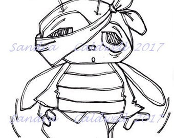 1354 Love Bee Blind Digi Stamp