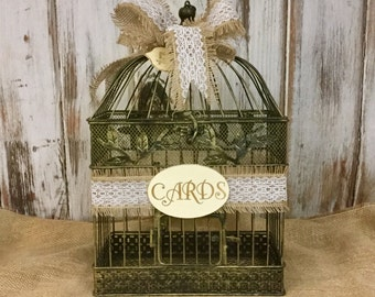 card holder wedding birdcage card holder wedding card box bride and groom wedding decor