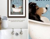 Sheltie Shetland Sheepdog dog bath soap Company vintage style artwork by Stephen Fowler UNFRAMED Signed Print